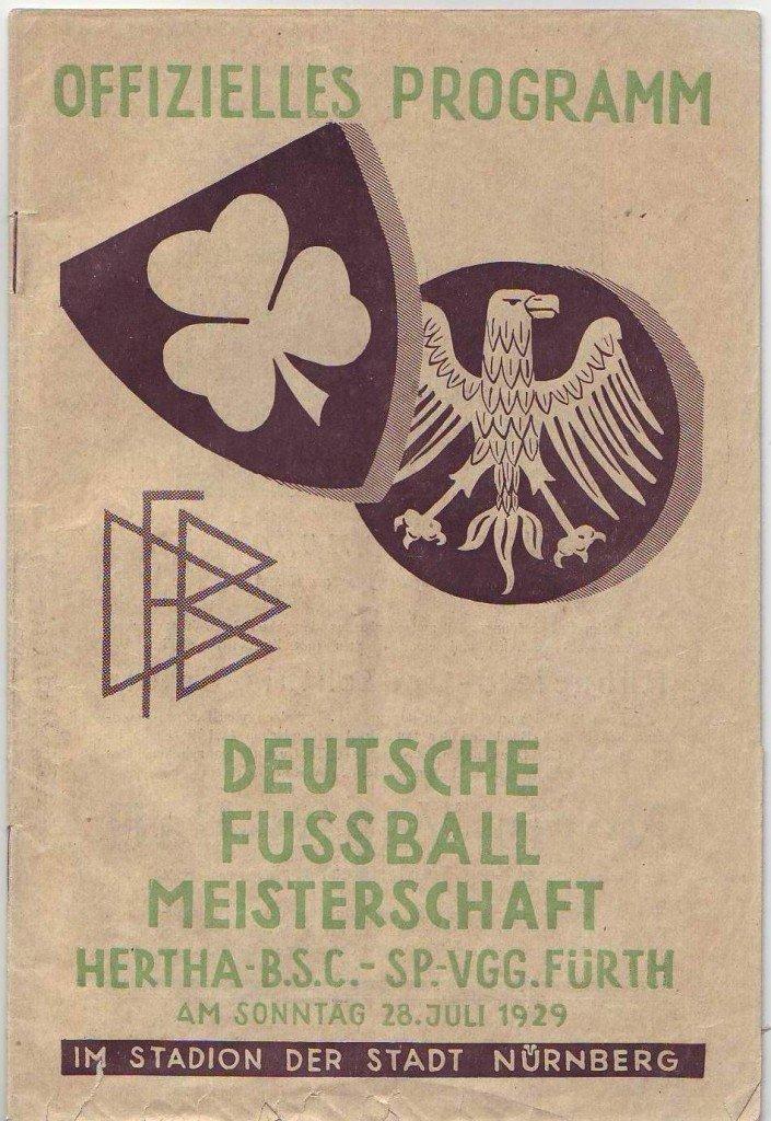 Endspielprogramm zur Deutschen Meisterschaft 1929