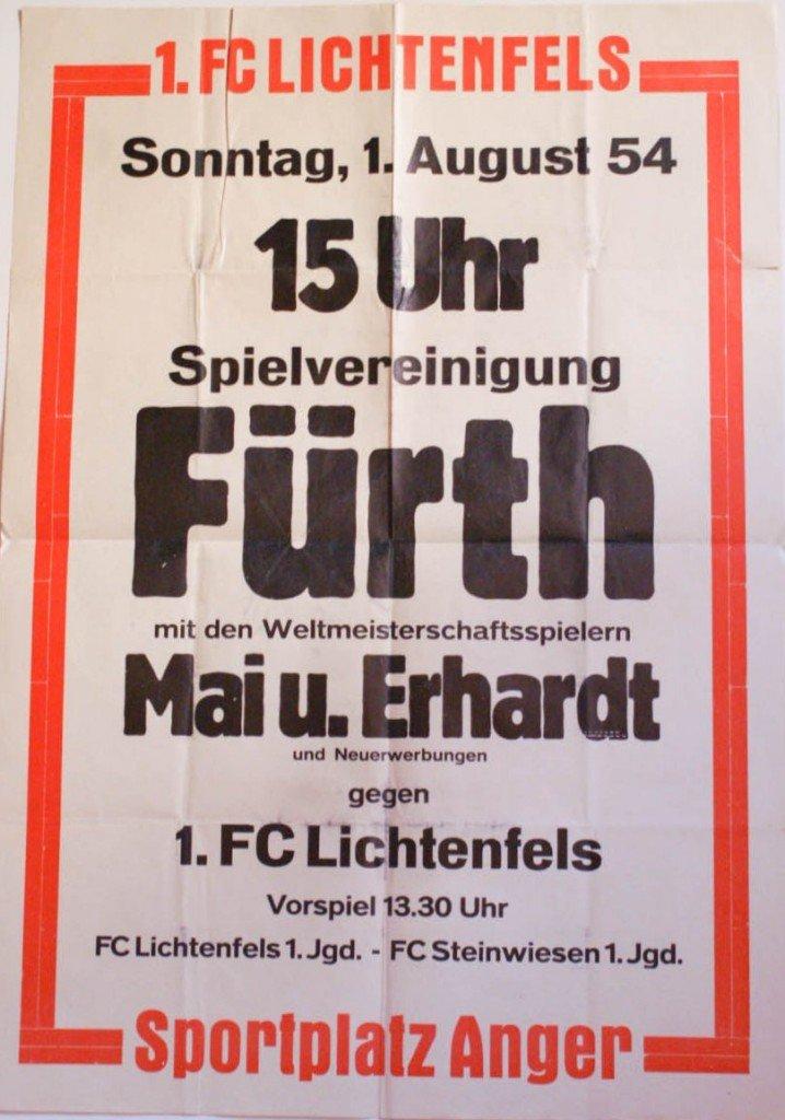 Plakat Lichtenfels - SpVgg Fürth 1954