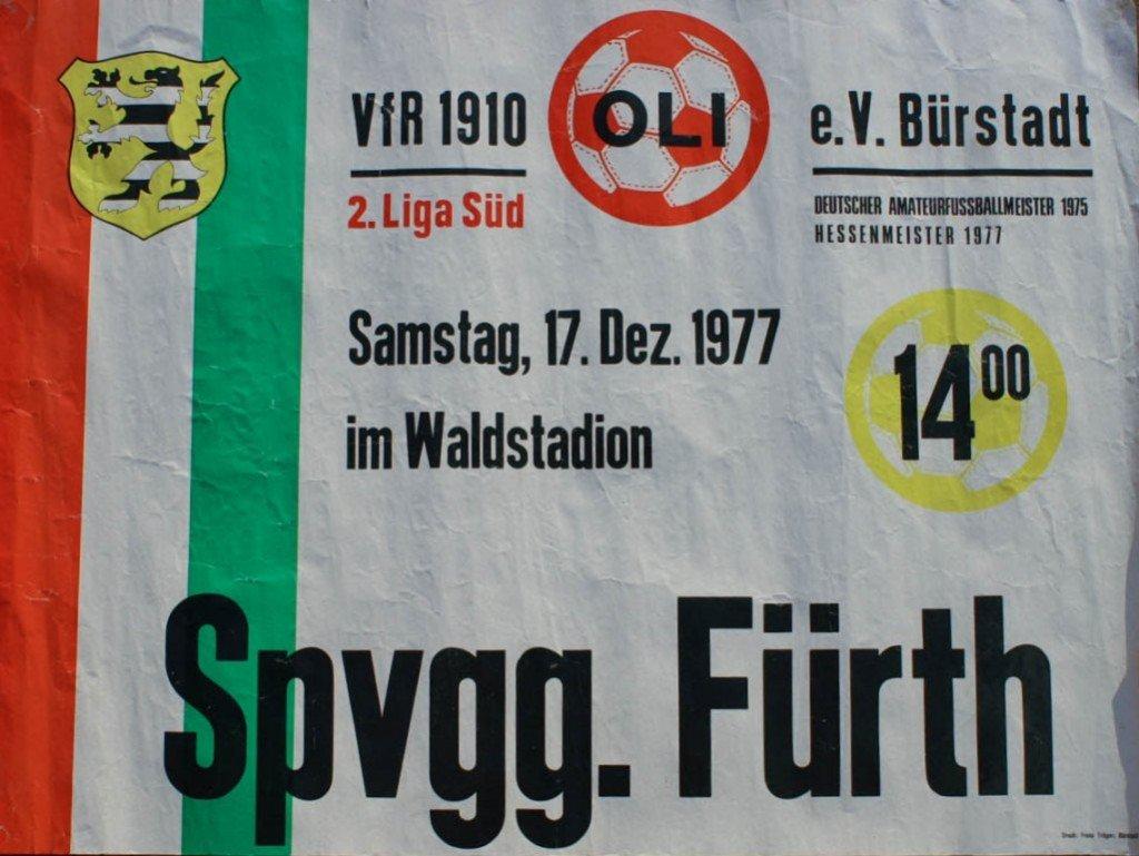 Plakat Oli Bürstadt - SpVgg Fürth 1977