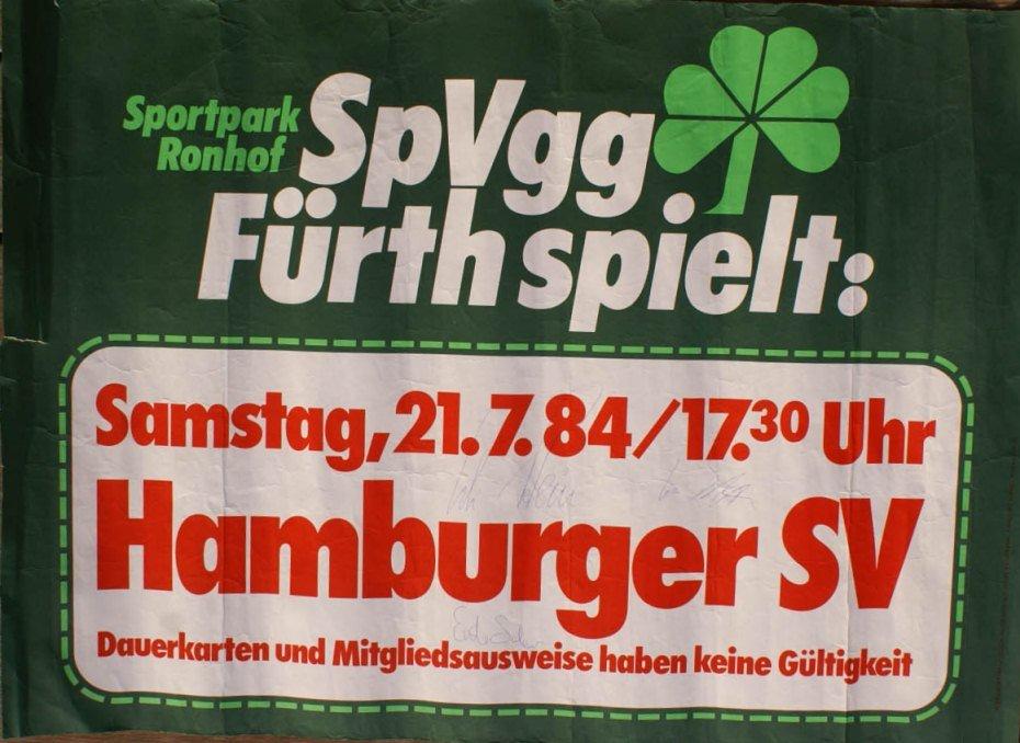 Plakat SpVgg Fürth - HSV 1984