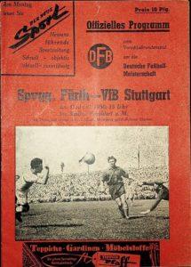 Programmheft vom Spiel VfB Stuttgart gegen SpVgg Fürth am 11.6.1950