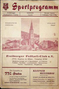 Programmheft vom Spiel Freiburger FC gegen SpVgg Fürth am 14.4.1957