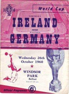Pogrammheft Länderspiel Nordirland-Deutschland 1960