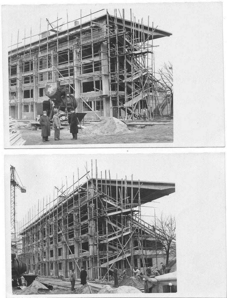 Richtfest der Haupttribüne im Ronhof am 18.12.1950
