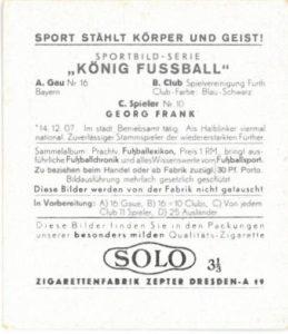 König Fußball Sammelbild von 1938 - Solo Album