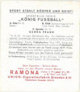 König Fußball Sammelbild von 1938 - Ramona Album