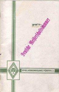 Vereinszeitung der SpVgg Fürth zur Deutschen Meisterschaft 1929
