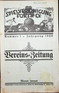 Vereinszeitung der SpVgg Fürth von 1926, Nummer 1