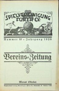 Vereinszeitung der SpVgg Fürth von 1926, Nummer 10