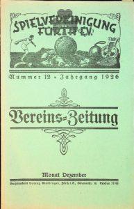 Vereinszeitung der SpVgg Fürth von 1926, Nummer 12