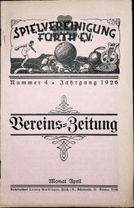 Vereinszeitung der SpVgg Fürth von 1926, Nummer 4