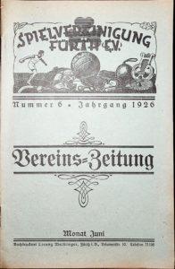 Vereinszeitung der SpVgg Fürth von 1926, Nummer 6