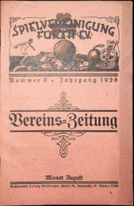 Vereinszeitung der SpVgg Fürth von 1926, Nummer 8