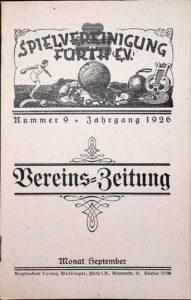 Vereinszeitung der SpVgg Fürth von 1926, Nummer 9