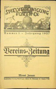 Vereinszeitung der SpVgg Fürth von 1927, Nummer 1