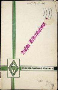 Vereinszeitung der SpVgg Fürth von 1929, Doppelausgabe 7/8