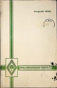 Vereinszeitung der SpVgg Fürth von 1930, August