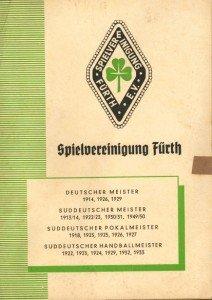 Vereinszeitung SpVgg Fürth 1952