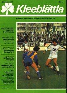 Vereinszeitung SpVgg Fürth 12/1977
